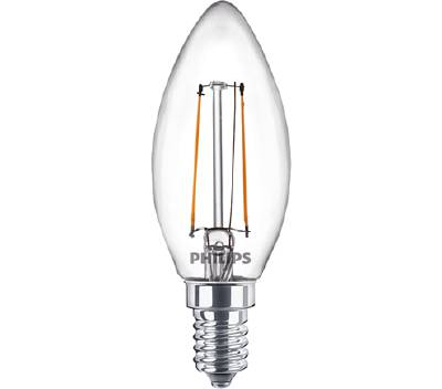Klassisk LED-lampa E14 (klar) Philips
