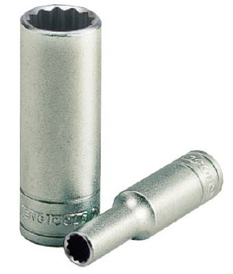 Hylsa. Med 1/4' fyrkantsfäste. Teng Tools M14060612-C / M14061312-C