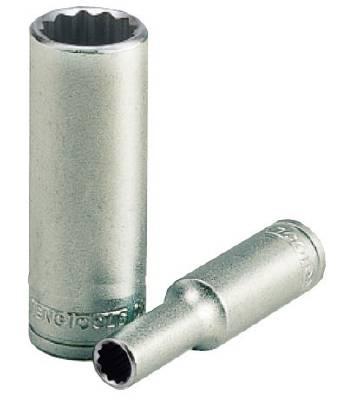 Hylsa. Med 1/4' fyrkantsfäste. Teng Tools M14020612-C / M14021612-C