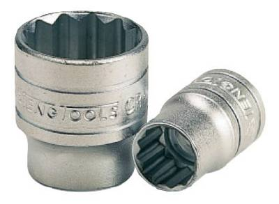 Hylsa. Med 3/8' fyrkantsfäste. Teng Tools M38050812-C / M38052212-C