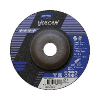 Depressed centre wheel for angle grinders Norton Vulcan