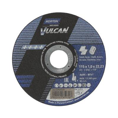 Cut-off wheel for angle grinder Norton VULCAN