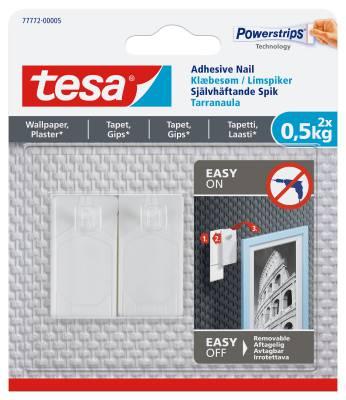 Självhäftande spik för texturerad yta Tesa