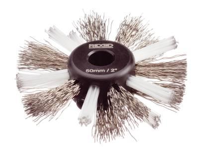 Rengöringsborstar av nylon/stål för FlexShaft Ridgid
