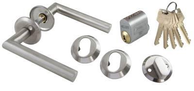 Fitting kit oval cylinder stainless STRUKTUR