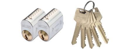 Cylinder 71237, 2 identical locks STRUKTUR