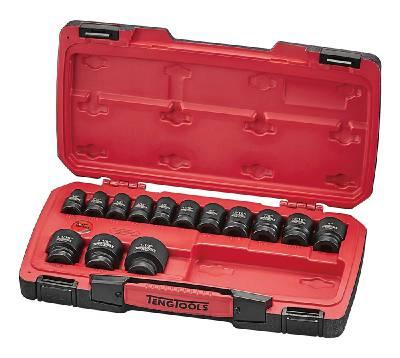 18-osainen voimahylsysarja, nelikulmainen 1/2'-kiinnitys Teng Tools T9218AF