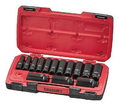 18-osainen voimahylsysarja, nelikulmainen 1/2'-kiinnitys Teng Tools T9218LAF