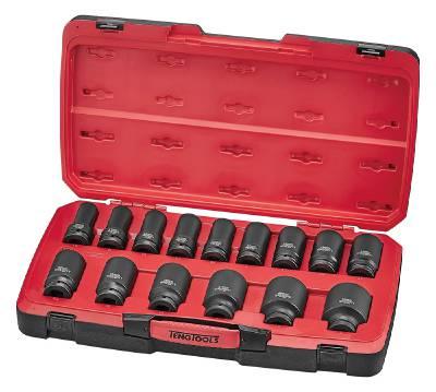 17-osainen voimahylsysarja, nelikulmainen 3/4'-kiinnitys Teng Tools T9417L