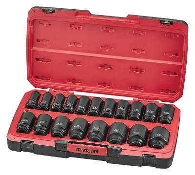 21-osainen voimahylsysarja, nelikulmainen 3/4'-kiinnitys Teng Tools T9421LAF