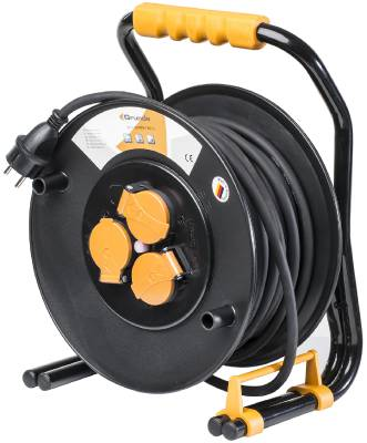 Cable reel professional with robust stand Grunda