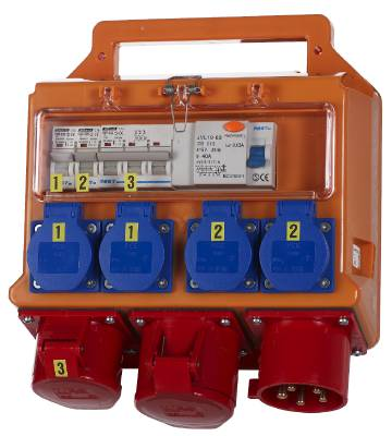 Building site electrical distribution box 32A Grunda