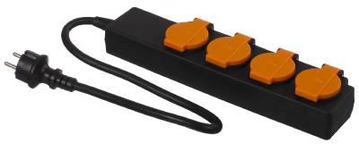 4-way socket strip with cable Grunda