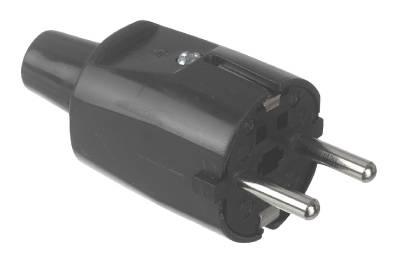 Plug with earth PVC Grunda