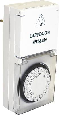 Timer for outdoor use IP44 24H Grunda
