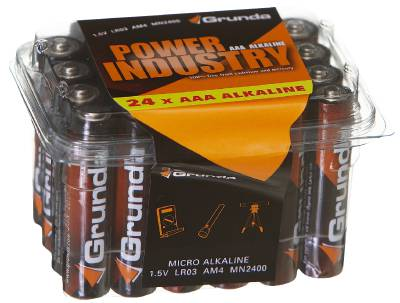 Alkaline batteries Power Industry Grunda