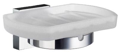 Holder with glass soap dish Smedbo House 342