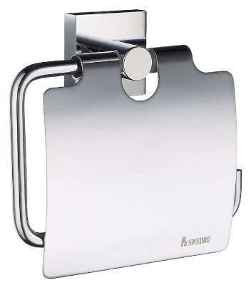 Toilet paper dispenser with lid Smedbo House 3414