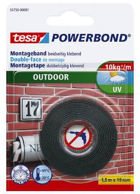 Monteringstejp för utomhusbruk tesa 55750, 55751