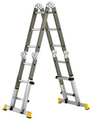 Ledad kombinationsstege Flexi Prof Teleskopisk Wibe Ladders Prof