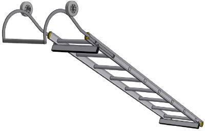 Underhållsstege aluminium Wibe Ladders