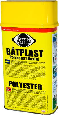 Båtplast (polyester) Plastic Padding