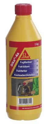 Mycket snabbt bindande cementtillsats Sika-4A