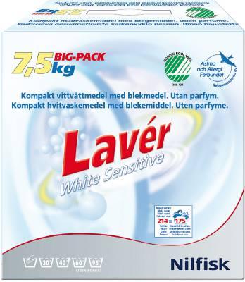 Maskintvättmedel Lavér vit Sensitive