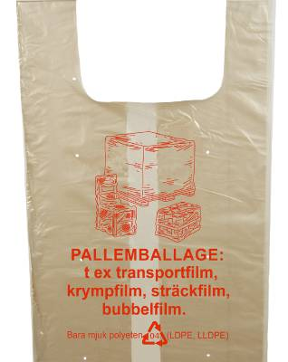 Sopsäck för returplast (240 liter)