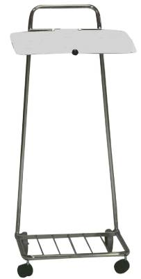 Sack stand chrome with lid