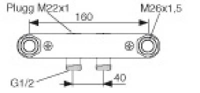 Blandarfäste FMM 2096-1600