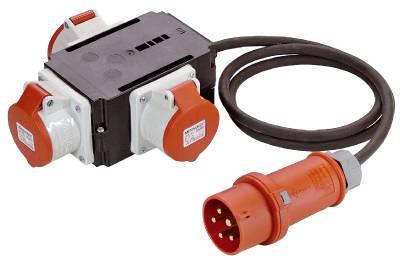 Grenuttag 3-vägs CEE 416-6 med kabel Grunda