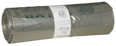 Avfallssäck i återvunnen folie (hålperforerad 800 liter) för plaståtervinning