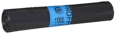 Sopsäck svart i plast 100/125/160/240 liter