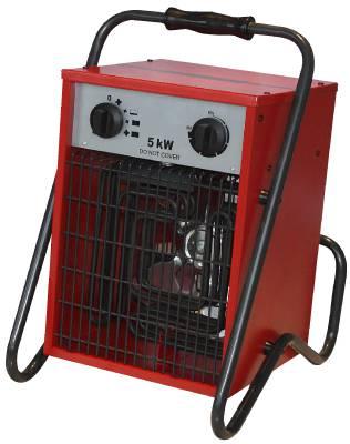 Byggvärmefläkt 5 kW, 9 kW