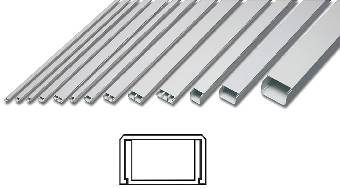 Ledningslister med lock 2 meter