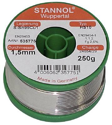 Lödtråd med flussmedel Stannol Ecoloy HS-10 typ 2510 TC
