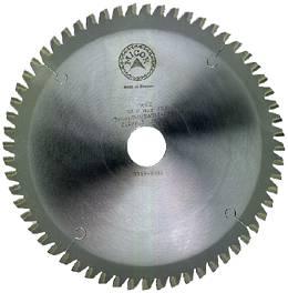 Circular saw blade with tungsten carbide tips. For aluminium. Micor