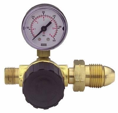 Regulator Sievert with adjustable pressure and pressure gauge