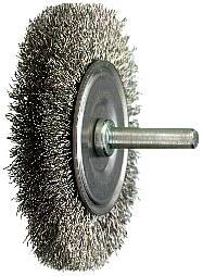 Circular brush with stub axle, stainless Osborn