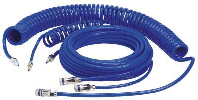 Spiralslange Serie 958 færdigmonteret med kobling Serie 310 eSafe Cejn