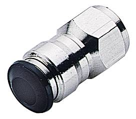 Push-in couplings in a straight design with female parallel pipe thread