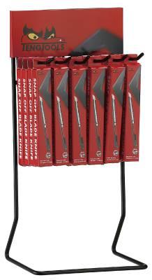 Snap-off blade knives in display Teng Tools DIS-710A