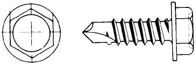 Plåtskruv. Emhart Super Dril-Kwick