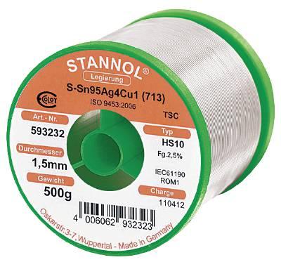 Lödtråd med flussmedel Stannol Ecoloy HS-10 typ 2510 TSC