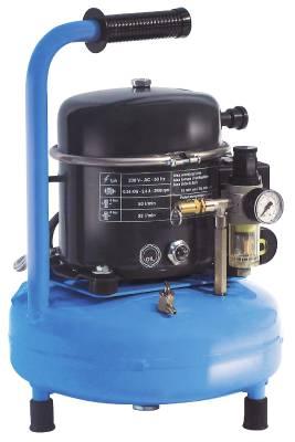 Kolvkompressor ABAC Silent PRO 0.5Hp-9L