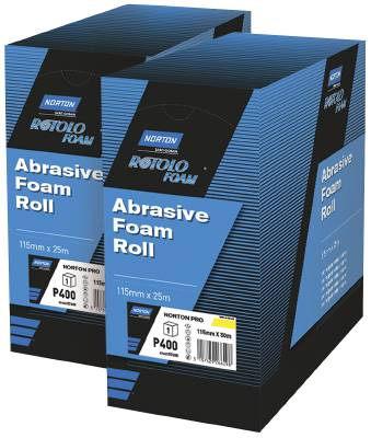 Sandpaper rolls for hand sanding Norton Pro Rotolo Foam, aluminium oxide paper
