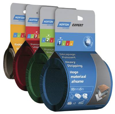 Abrasive paper roll with Velcro Norton 24196