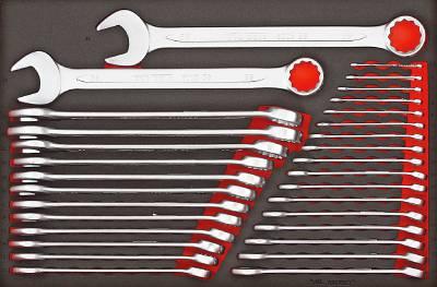 31 pc Combination spanner set Teng Tools TTESP31
