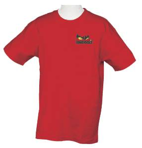 Red T-shirt with motif Teng Tools